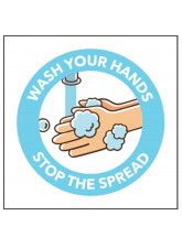 Wash Your Hands - Self Adhesive Sticker