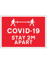 COVID-19 - Stay 2m Apart (with pictogram)