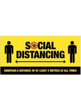 Social Distancing - Biohazard Pictogram - Sign / Banner
