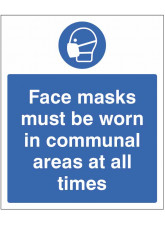 Face Masks must be Worn in Communal areas