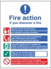 Multi-lingual Fire Action Manual No Lift