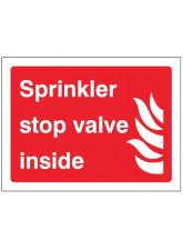 Sprinkler Stop Valve Inside