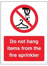 Do Not Hang Items from Fire Sprinkler