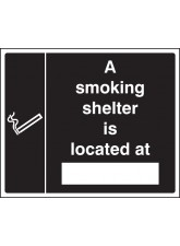 Smoking Shelter Located At (White / Black)