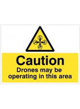Caution Drones May be Operating in this Area