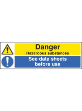 Danger Hazardous Substances See Data Sheets