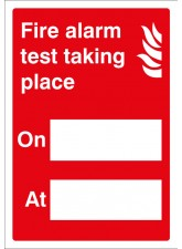 Fire Alarm Test - Adapt-a-Sign