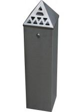 Floor Standing Cigarette Bin (800mm Height)x(200 x 200mm Base)