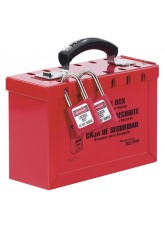 Portable Group Lockout Box- ReD