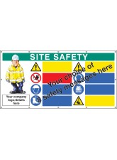 Site Safety - Multi-message - Design Your Own Custom - Banner with Eyelets - 1270 x 2440mm