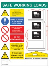 SWL Cantilever Racking Sign - 5mm FoamEx- 450 x 600mm