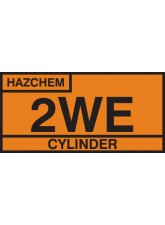 2WE Cylinder Storage Placard - Aluminium