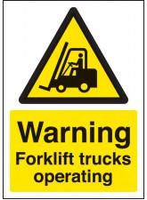 A4 Warning Forklift Trucks Operating