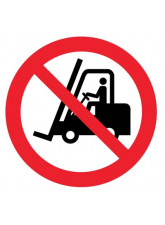 Floor Graphic - No Forklifts Symbol