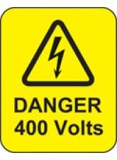 Danger 400 Volts Labels